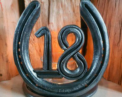 Celebration Mounted Horseshoe & Candle Holder