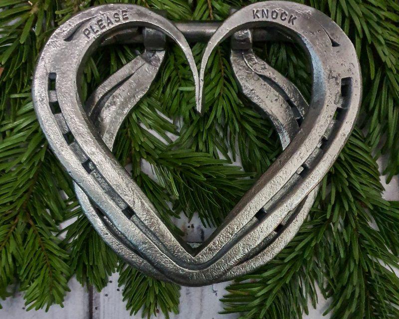 Horseshoe Heart Door Knocker