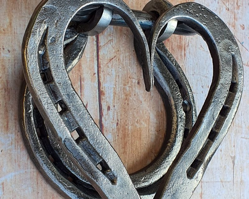 Horseshoe Heart Door Knocker