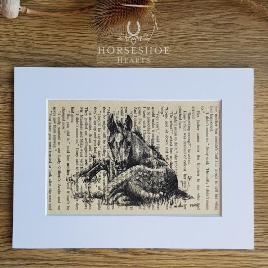 Relaxing Foal Pen & Ink Drawing