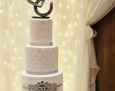 Horseshoe Heart Cake Topper