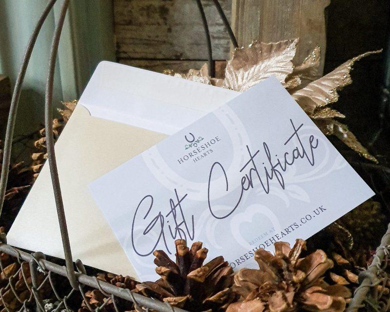 Horseshoe Hearts Gift Certificate