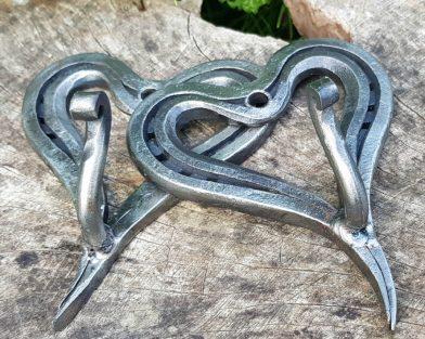 Heart Shaped Horseshoe Coat Hook