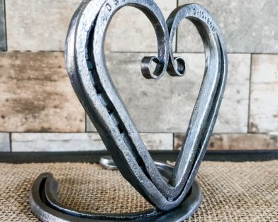 Mounted Scroll Heart with Candle Holder