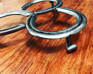 Triple Horseshoe Trivet