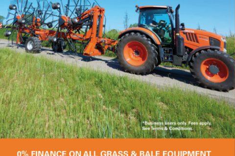 0% finance on Kubota Grass & Bale Equipment