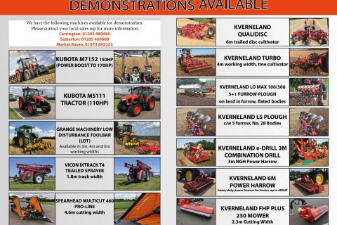 DEMONSTRATIONS AVAILABLE