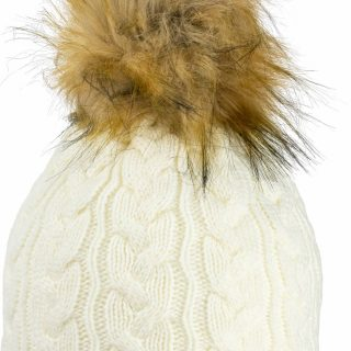 JACK PYKE LADIES CABLE KNIT HAT – OFF WHITE