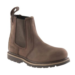 BUCKLER BOOTS DEALER SAFETY BOOT CHOCOLATE