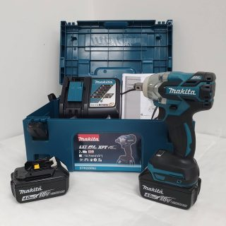 DTW285RMJ MAKITA 18V IMPACT WRENCH 1/2″ SQ DRIVE INC 2 X 4.0aH BATTERIES AND CHARGER