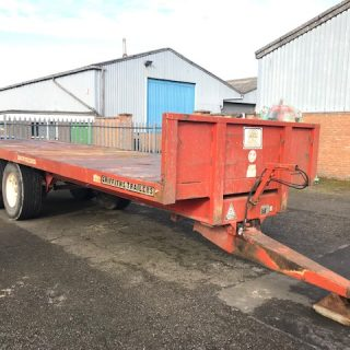 GRIFFITHS FLAT BALE TRAILER