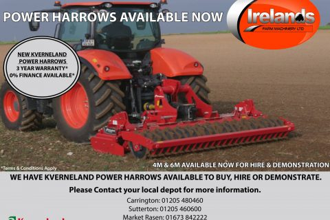 KVERNELAND POWER HARROWS AVAILABLE NOW