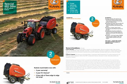 Kubota Baler Finance Offer
