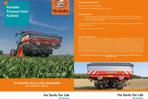 Kubota Spreaders Finance Offer