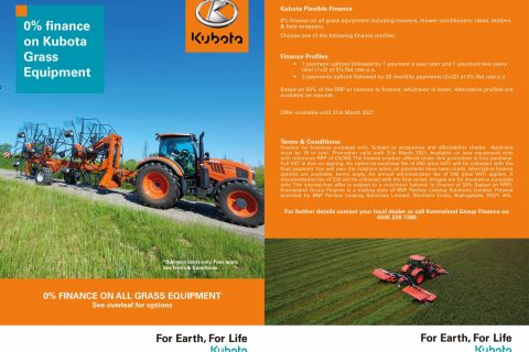 Kubota Grass Equipment Finance Offer