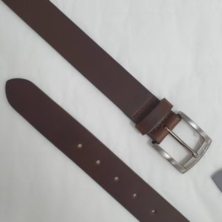 BROWN LEATHER BELT 35MM BY CHARLES SMITH 30017BN