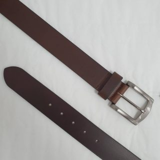BROWN LEATHER BELT 38MM BY CHARLES SMITH 30018BN