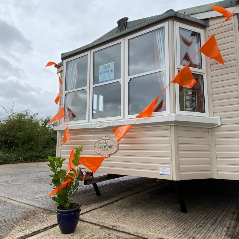 Atlas Oakwood Super 37ft x 12ft x 1 Bedroom DOUBLE GLAZED & CENTRAL HEATED