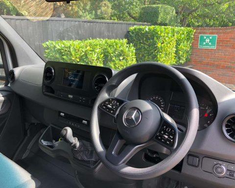 Mercedes SprintMAX 4.5M x 2.3M Medium Roof Low Floor Van