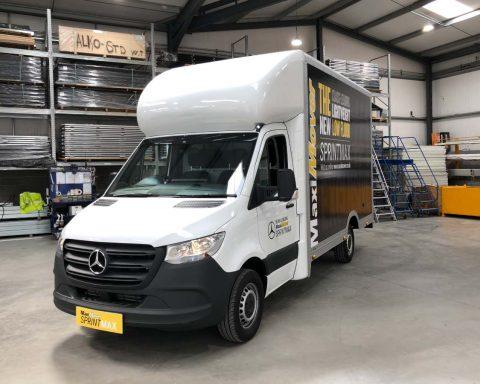 Mercedes SprintMAX 4.1M x 2.5M Medium Roof Low Floor Van