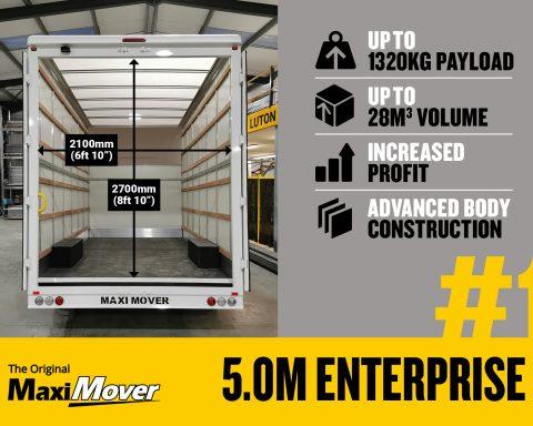 Vauxhall Movano 5.0M x 2.7M Enterprise