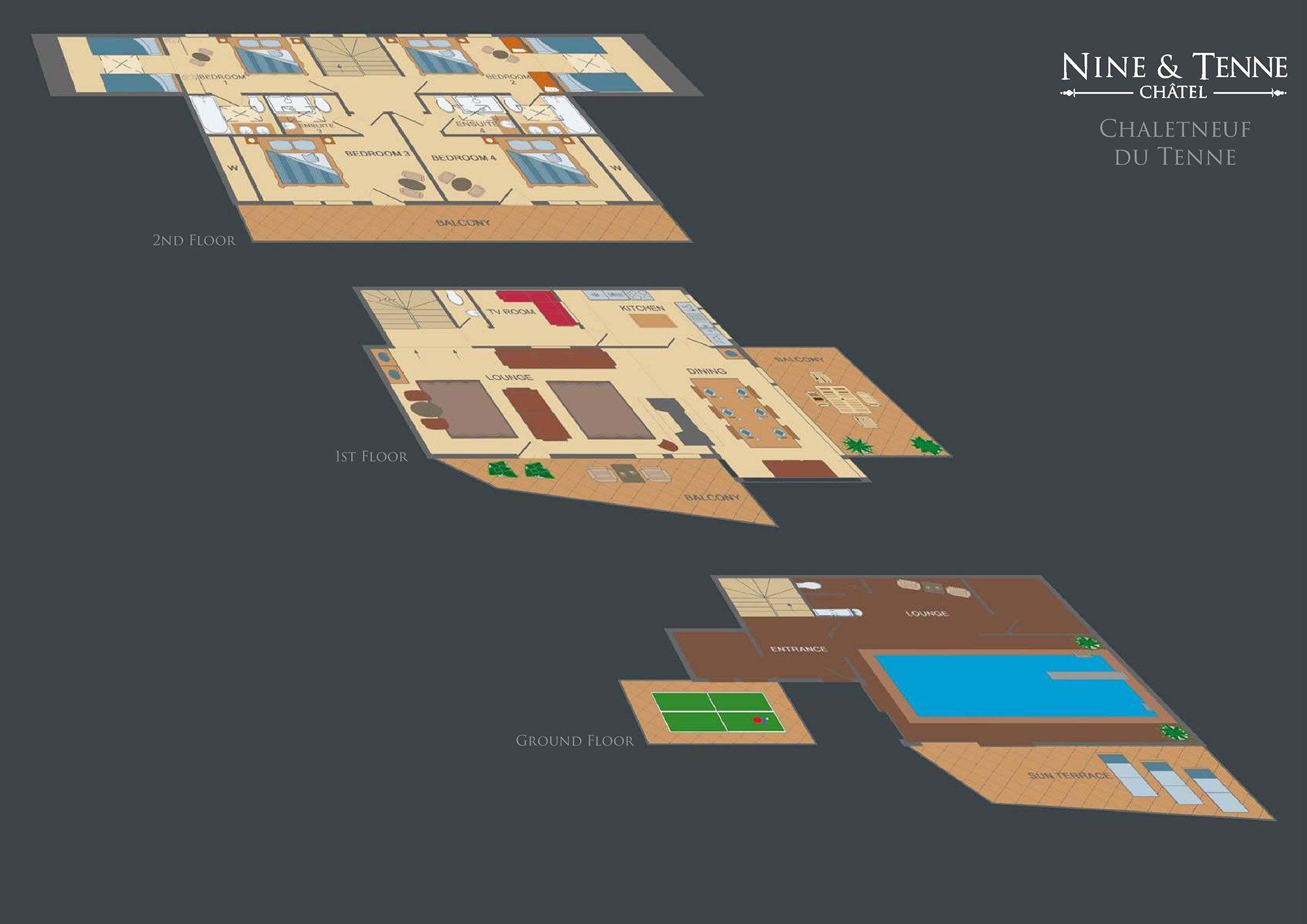 Chaletneuf du Tenne Floorplan