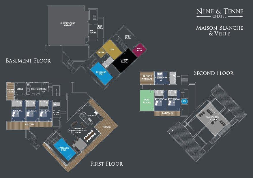 Maison Blanche et Verte Floorplan