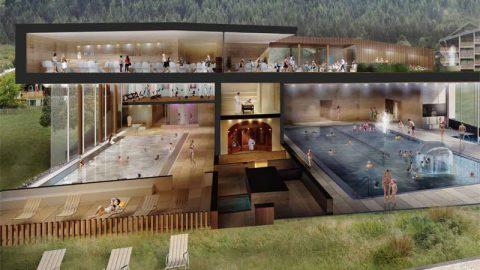 New aquatic centre in Châtel – 'Forme d'O'