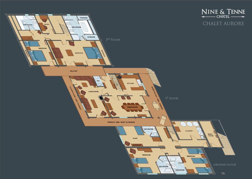 Chalet Aurore Floorplan