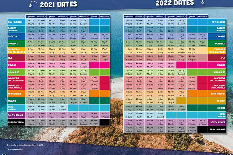 Sch Dates page 2022