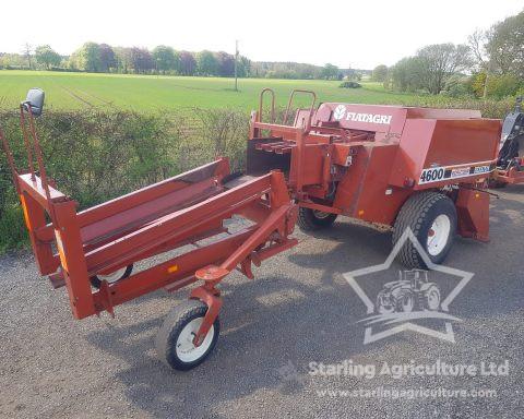 Hesston 4600 Baler and Sledge
