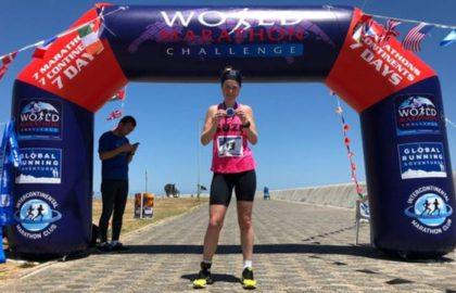 National Horseracing College Trustee Wins the World Marathon Challenge